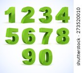 set of vector numbers  from 1... | Shutterstock .eps vector #273520010