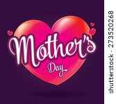 mother's day badge with hearts  ... | Shutterstock .eps vector #273520268