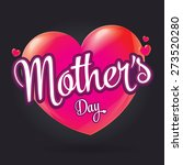 mother's day badge with hearts  ... | Shutterstock .eps vector #273520280