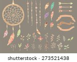 hand drawn native american... | Shutterstock .eps vector #273521438