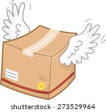 illustration of a package box... | Shutterstock .eps vector #273529964