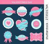 love romantic set retro label... | Shutterstock .eps vector #273531764