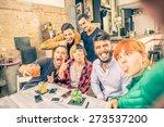 group of friends having fun in... | Shutterstock . vector #273537200