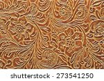 leather embossed with floral... | Shutterstock . vector #273541250
