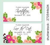 flower blossom. romantic... | Shutterstock .eps vector #273544634
