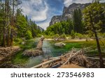 Kings river in Sequoia and Kings canyon national park, California.  - stock photo
