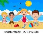 cartoon summer day | Shutterstock . vector #273549338