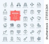 Outline web icon set - wedding | Shutterstock vector #273551264