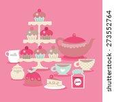 a vector illustration of retro... | Shutterstock .eps vector #273552764