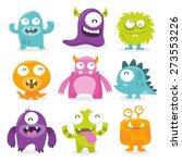 vector illustration of nine... | Shutterstock .eps vector #273553226