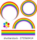 Set Of Rainbow Many Shapes