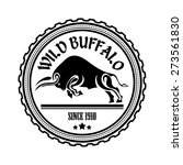 logo  label two buffalo  bull