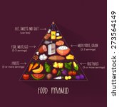 pyramid of healthy and... | Shutterstock .eps vector #273564149