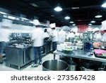 modern kitchen and busy chefs... | Shutterstock . vector #273567428