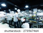 modern kitchen and busy chefs... | Shutterstock . vector #273567464