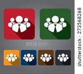 vector   square member  group... | Shutterstock .eps vector #273568268