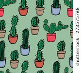 cute seamless pattern with... | Shutterstock .eps vector #273575768