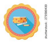 pencil box flat icon with long... | Shutterstock .eps vector #273580430