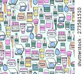 seamless pattern with elements... | Shutterstock .eps vector #273581510