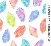 watercolor gem seamless pattern | Shutterstock .eps vector #273582584