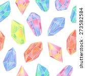watercolor gem seamless pattern | Shutterstock .eps vector #273582584