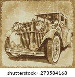 retro car.vintage background. | Shutterstock . vector #273584168