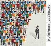 businessman community concept... | Shutterstock .eps vector #273586250