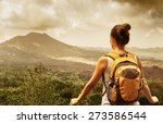 young backpacker traveling... | Shutterstock . vector #273586544