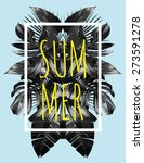 illustration word slogan summer ... | Shutterstock .eps vector #273591278