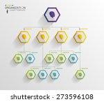 modern organization chart... | Shutterstock .eps vector #273596108