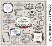 set of floral vintage... | Shutterstock .eps vector #273598220