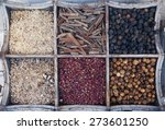 various spices at the spice... | Shutterstock . vector #273601250