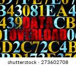 data concept  pixelated red... | Shutterstock . vector #273602708