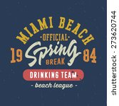 spring break   miami beach.... | Shutterstock .eps vector #273620744