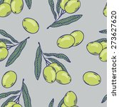 branches of olives seamless...   Shutterstock .eps vector #273627620