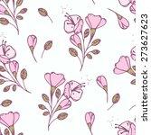 hand drawn flowers seamless... | Shutterstock .eps vector #273627623