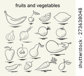 set of fruits and vegetables. | Shutterstock .eps vector #273638048