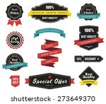 vector set of labels banners... | Shutterstock .eps vector #273649370
