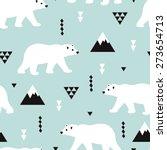 Seamless Kids Polar Bear And...