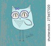 vector hand drawn fashion bird   Shutterstock .eps vector #273657320