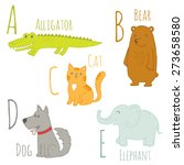 cute zoo alphabet in vector. a  ... | Shutterstock .eps vector #273658580