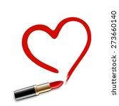 Heart Drawn Red Lipstick....