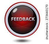 feedback circular icon on white ... | Shutterstock . vector #273660170