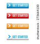 get started buttons | Shutterstock .eps vector #273664130