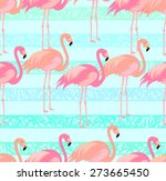 tropical  exotic  hawaiian... | Shutterstock .eps vector #273665450