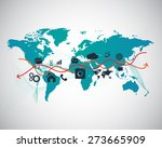 abstract technology business... | Shutterstock .eps vector #273665909
