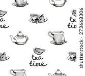 set of cute hand drawn lemon ... | Shutterstock .eps vector #273668306