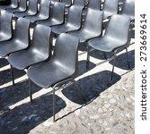 chairs of an outdoor cinema  ... | Shutterstock . vector #273669614