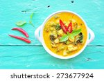 green curry with chicken in... | Shutterstock . vector #273677924