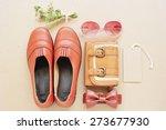 vintage of leather shoe  ...   Shutterstock . vector #273677930